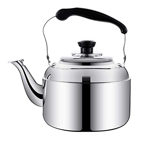 DIBAO Kettle de sifflet pour la Plaque de Cuisson à gaz Whistling thé Bouilloire émail Théières Whistling Kettle avec Traditionnelle/Retro Bec for HOB ou Stove Top (Size : 4L)