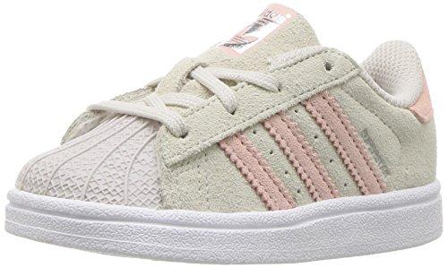 adidas Originals Baby-Sneaker für Jungen, Superstar, Grau - Pearl Gray Icey Pink Icey Pink - Größe: 39 1/3 EU