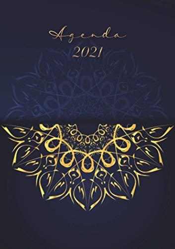 Agenda 2021 « Mandala Azul Dorado »: 2021 Diario semanal -...