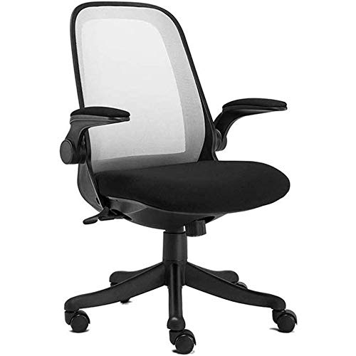 ZLQBHJ Sillas de escritorio de oficina, Videojuego Sillas de oficina Silla de oficina for el hogar, escritorio del hogar del ordenador silla ergonómica con reposabrazos reversible Altura del asiento a