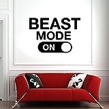 HFDHFH Patrón de Bestia Calcomanía de Pared Fitness Deportes Gimnasio Cita inspiradora Palabra Puertas y Ventanas Pegatinas de Vinilo Sala de Estudio Decoración de Interiores de Oficina