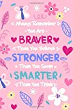 Always Remember You Are Braver Than You Believe Stronger Than You Seem Smarter Than You Think: Motivational Lined Journal to Write in For Girls
