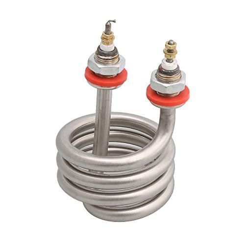 Sourcingmap Elektrische Heizspirale, 8,2 x 13 mm, AC 220 V, 2500 W, Edelstahl, silberfarben