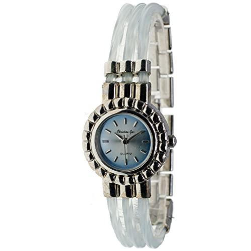 Christian Gar Cg-88543-5 Reloj Analógico para Mujer Caja De Metal Esfera Color Azul