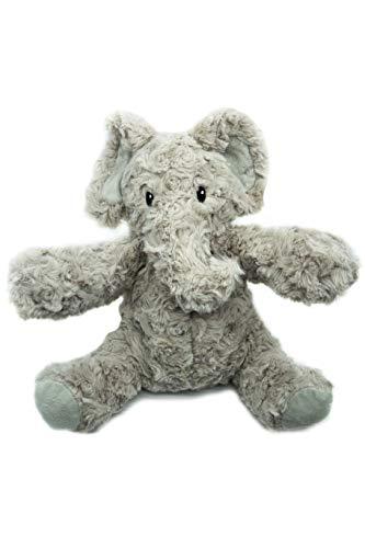 Kuki Peluche Térmico Bebé para Dormir Elefante 23 cm | Saquito de Semillas extraíble | Peluche de Calor para Microondas | Peluche Suave Abrazable