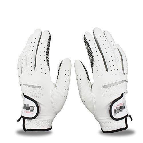 ZYQZYQ Golfhandschuhe 1 Paar Herren Linke Rechte Hand Weiche Atmungsaktive Golfhandschuhe Aus Reinem Schaffell Golfhandschuhe Aus Echtem Leder,23