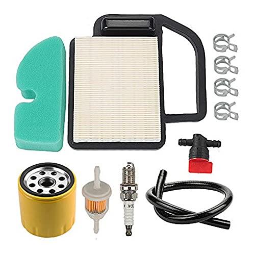 QUJJP Piezas para cortacésped Filtro de Aceite + Spark Plug Twin Up Kit La cortadora de césped Compatible con Cub Cadet LT1042 LT1045 LTX1042 Piezas de Herramientas Accesorios Accesorios
