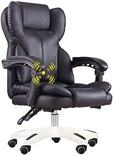 SISHUINIANHUA Silla para Juegos Silla de Oficina Silla de Escritorio de la computadora Que compite con Respaldo Alto Estilo de la PU de Cuero y Ejecutivo Silla giratoria Estilo ergonómico