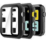 Hianjoo Cover [2-Pack] Compatibile per Apple Watch 42mm Pellicola Proteggi Schermo, Custodia con Vetro Temperato per Compatibile con Apple iWatch 42mm Series 3/2/1 - Ne
