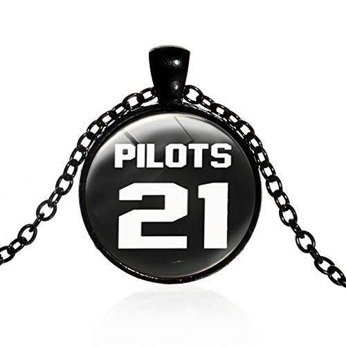 2017 Nuevo Twenty One Pilots Alternativa Banda Blurryface Micrófono Cristal Cabujón Collar
