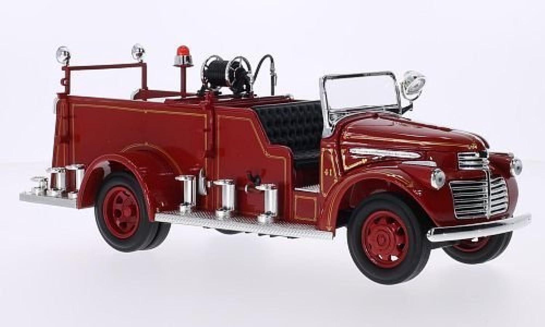 tienda de pescado para la venta GMC Camión de Bomberos, Bomberos, Bomberos, rojo, 1941, Modelo de Auto, modello completo, Lucky El Cast 1 24  almacén al por mayor