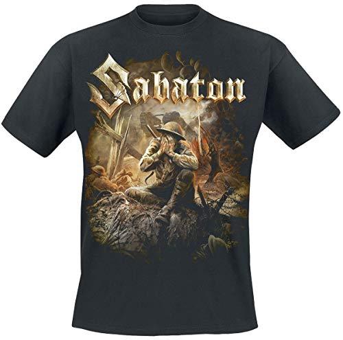 Sabaton The Great War Männer T-Shirt schwarz XL 100% Baumwolle Band-Merch, Bands, Nachhaltigkeit