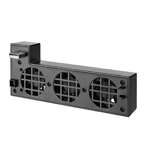 TNP USB Cooling Fan Attachment for Xbox One X, USB Powered External Smart Auto Cooler System w/ 3 High-Speed Fans & 1 Charging / Data Syncing USB 2.0 Port