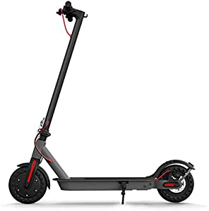 """Hiboy S2 Electric Scooter - 8.5"""" Solid Tires - Up to 17 Miles Long-Range & 18 MPH Portable Folding Commuting Scooter for Adults with Double Braking System and App (Black&Space Grey)"""