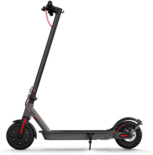 Hiboy S2 Electric Scooter - 8.5' Solid Tires - Up to 17 Miles & 18.6 MPH Portable Folding Commuting Scooter for Adults with Double Braking System, Rear Suspension and App(Seat not Included)