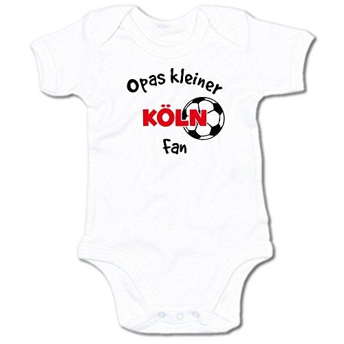 G-graphics Opas Kleiner Köln Fan Baby Body Suit Strampler 250.0292 (0-3 Monate, weiß)