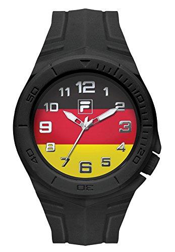 FILA Reloj de pulsera unisex Fan Sport 38-072-005 FILACASUAL con bandera de Alemania