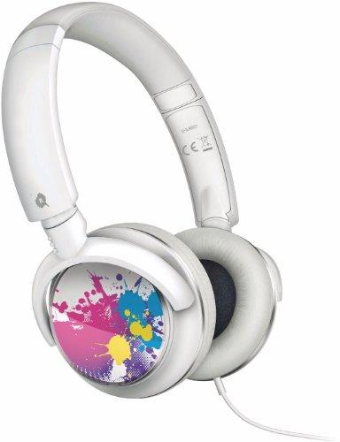 Philips SHL 8807 DJ-Style HiFi-Kopfhörer/Headset (inkl. Mikrofon, Fernsteuerung für Lautstärke, 107 dB, 100 mWatt, für Apple iPod, iPhone, iPad) weiß