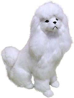 Mini Realistic Plush Animal Lifelike Plush Fur Animal Furry Pet Animal Home Ornament Simulation Toy Model, Cute Poodle-1