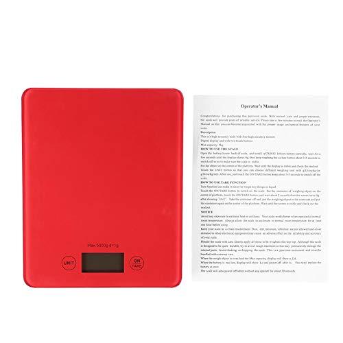 Telituny Báscula Digital de Cocina Báscula de Cocina Digital-5 kg /1g Báscula de Cocina electrónica Digital de Alta precisión Báscula de Cocina Multiusos para Hornear