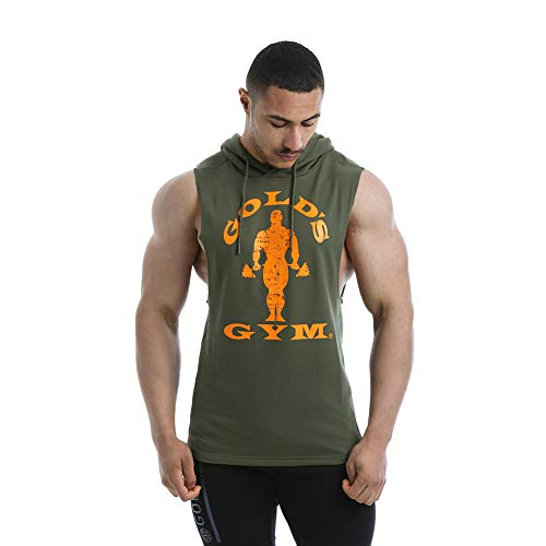 Golds Gym Ggswt143 Sudadera con Capucha, Army, Small para Hombre