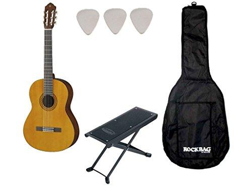 Yamaha C40 - Kit con chitarra classica, custodia e poggia piede