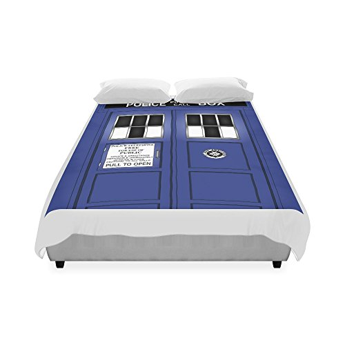 "Customize Police Box Fashion Duvet Cover 86"" x 70""(One Side Printed) DC-129 ,Good for all King Size,Queen Size,Double Size,Twin Size."