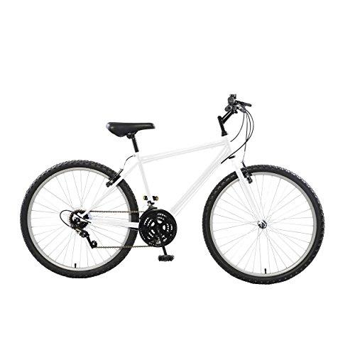 Cycle Force Rigid Mountain Bike, 26 inch Wheels, 18 inch Frame,Men's Bike, White