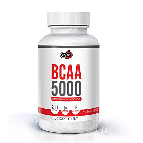 Pure Nutriton BCAAs 5000 Tablets 19 37 75 Servings 5g Branched Chain Amino Acids 2 1 1 BCAA Ratio Essential Aminos Leucine Isoleucine Valine Supplement Optimum Workout Recovery Muscle Pack Formula