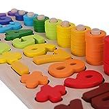 SCHMETTERLINE Holz-Puzzle mit Zahlen für Kinder ab 3 Jahre _ Montessori Spielzeug aus Holz zum Zählen Lernen _ Lern-Spiel mit Farben und Formen für...
