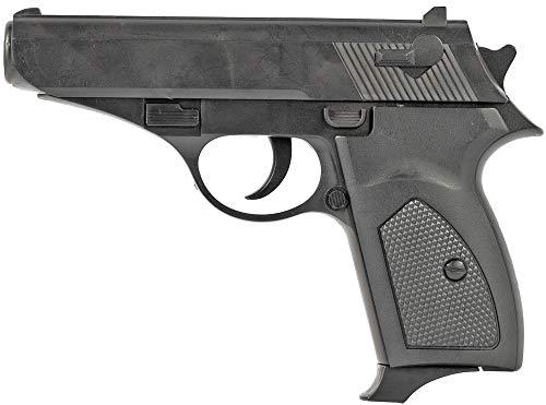 Nerd Clear Softair-Pistole inkl. Kugeln 12 cm Airsoft Waffe Munition Kugeln 0,5 Joule ab 14 Jahre schwarz Zubeh