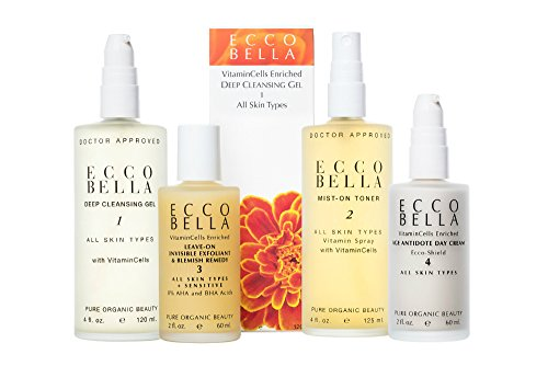 Ecco Bella, Natural Anti-Aging Face Cream, Vegan Face Moisturizer for Sensitive Skin with Wrinkle Protection