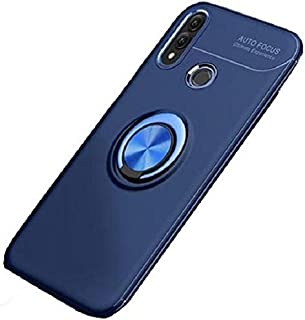 Huawei Y9 2019 Finger Ring Kickstand TPU Case Cover with Built-in Magnetic Metal Sheet - Blue
