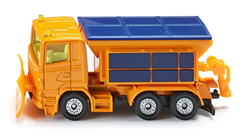 SIKU 1309, Winterdienst-Fahrzeug, Metall/Kunststoff, Orange, Abnehmbare Streuerabdeckung