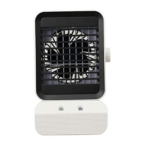 MERIGLARE Ventilador de Aire Acondicionado portátil, Ventilador de refrigeración de Escritorio Personal, Mini Enfriador de Aire del Espacio, humidificador y