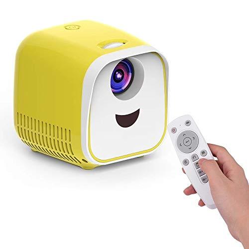 GY-HCJI USB Mini Proyector, Proyector Portátil WiFi, 1000 Lúmenes Micro Proyector De Vídeo 480 * 320P Familia For La TV For PC Portátil (Color : Yellow)