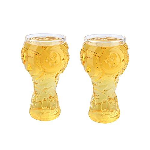 Vasos De Vidrio Taza De Cerveza Vino Jugo De Frutas Proceso De Vidrio Multiusos Estilo Grande De Fútbol, Paquete De 2