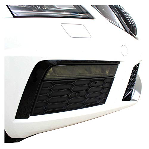 Nebelscheinwerfer Tagfahrleuchten Folien Set Tönungsfolie Aufkleber (Dark Grey, C037 Facelift)
