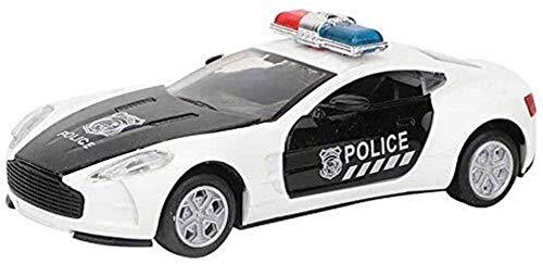 Die-Modelo de automóvil Modelo de vehículos Escala de moldes Coche de Juguete con Luces y Sonido Policía Pulsera Juguete de aleación Juguete Educativo para niños Regalos para niños niños pequeños