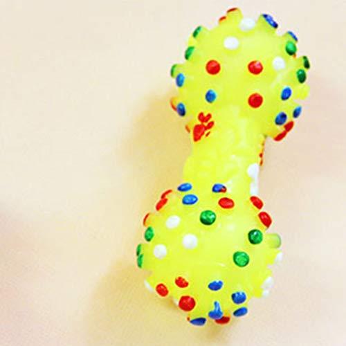 Hundespielzeug aus Gummi für kleine Hunde, quietschend, Hantel-Design, Kauspielzeug, Hundespielzeug