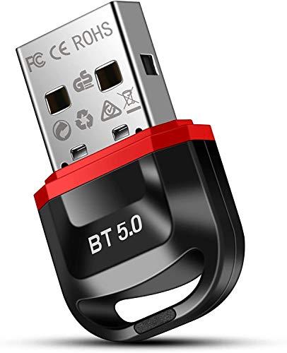 doedoeflu Bluetooth Adapter Bluetooth 50 USB Adapter Bluetooth Empfanger fur Desktop Drucker Headset Lautsprecher fur Windows 108187