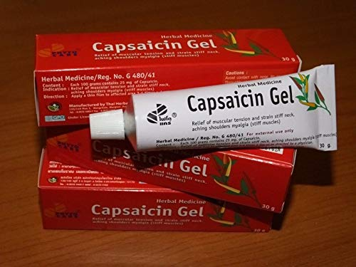 3 Tubes Capsaicin Hot Gel for Pain Relief of Arthritis, Aches,muscular Tensions Stiff Neck 30g Tube