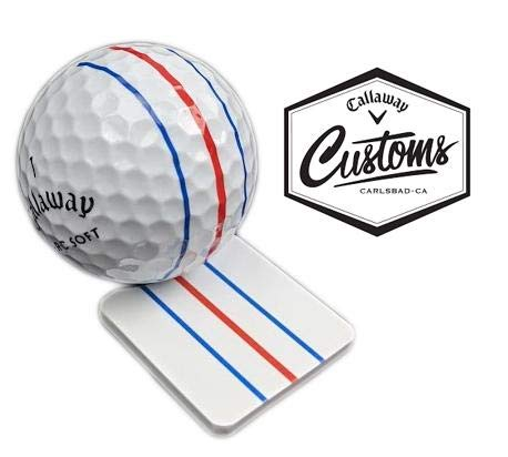 Customs Callaway Golf Tour Issue - Marcador de pelotas de golf con triple carril (metal)