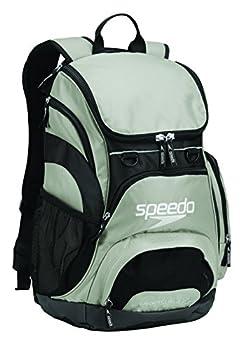 Speedo Unisex-Adult Large Teamster Backpack 35-Liter  Frost Grey/Black