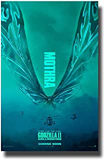 Godzilla II Poster Movie Promo 11 x 17 inches King of The Monsters 2019 Mothra Blue
