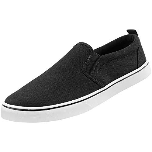 Brandit Southampton Slip on Sneaker, schwarz Mir weißer Sohle, EU40