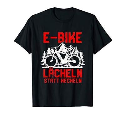 """Lächeln statt hecheln"" | Lustiger Spruch Fahrrad E-Bike T-Shirt"
