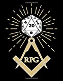 RPG D20 Masonic Dice Cube Maker Masonry Freemason Templar Dice Bordgame A4 Ruled Line Paper: Notebook with 120 Pages ca. A4 (8,5x11 in) RPG Dice ... Role Playing Games Tabletop play gifts
