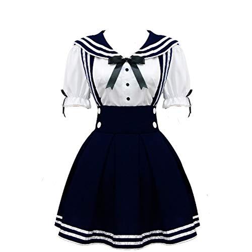 Zhiqing die Frauen der Schule Cosplay - Outfits verkleiden Cosplay kostüme Mini - Kleid (XL)