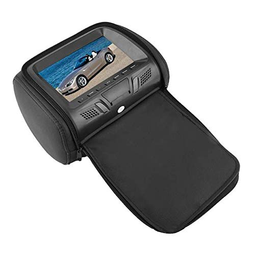 Monitor universal para reposacabezas de coche, pantalla trasera ajustable para coche, bolsa de reposacabezas reemplazable, pantalla sistema de entretenimiento para el coche (B Beige)